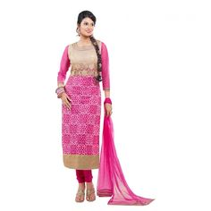 World's Most Selling Elina Pink Color Embroidary Attractive Salvar Suit