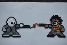 Harry Potter and Voldemort perler beads