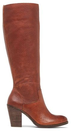 Heeled Boots in Cognac Leather