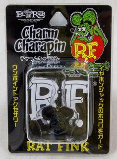 RAT FINK Black Ver. Charm Charapin for Smart Phones for Earphone Jack