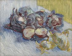 Red Cabbages and Onions Paris, October - November 1887 Vincent van Gogh (1853 - 1890) oil on canvas, 50.2 cm Van Gogh Museum, Amsterdam (Vincent van Gogh Foundation)  http://www.vangoghmuseum.nl/en/collection/s0082V1962