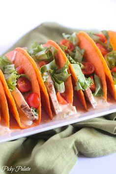 Chicken Nacho Tacos from @jennyflake