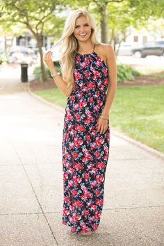 Dear Dreamer Floral Maxi Dress - The Pink Lily