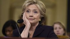 Former Secretary of State and Democratic Presidential hopeful Hillary Clinton testifies before the House Select Committee on Benghazi on Capitol Hill in Washington, DC, October 22, 2015.