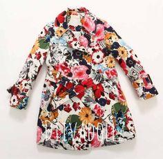Designer+Floral+Doll+Trench+Coat!+