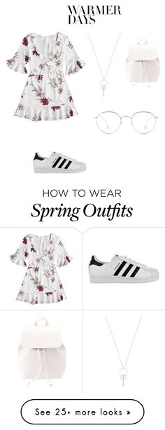 """Outfit"" by taylor-dingman on Polyvore featuring adidas, Charlotte Russe and springdresses"