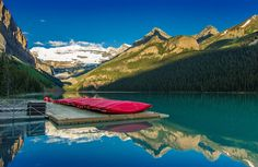 https://flic.kr/p/Co6jSz   Lake Louise & Red Canoes   Lake Louise - Alberta, Canada. I'm still posting from the archives. Red canoes lined up on beautiful early summer morning on Lake Louise in Banff National Park. Thanks for visiting!