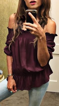 #summer #trending #outfits | Week End Style + Purple Off The Shoulder Top…