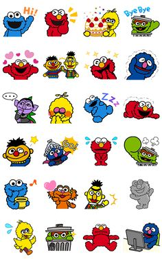 The Sesame Street gang comes to life in a set of animated stickers perfect for everyday use! Let Elmo and friends add some action and cheer to your chats. Elmo Wallpaper, Disney Wallpaper, Cartoon Wallpaper, Cartoon Stickers, Tumblr Stickers, Cute Stickers, Sesame Street Birthday, Sesame Street Party, Elmo And Friends