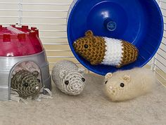 Hamsters.  Stupidly simple hamsters.  My mom's dog could crochet this!