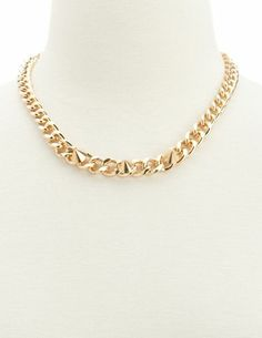 Spiked Chain Link Necklace: Charlotte Russe
