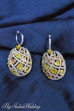 Amaris Jewels sapphire and diamond earring