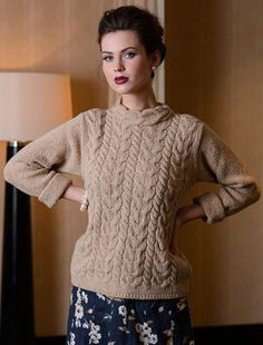 Aran Cable Merino Sweater