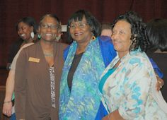 Chair of the Black History Commission of Arkansas, Carla Coleman and Senator Linda Chesterfield with participant at AHC's June 7th event, Profiles in Arkansas Black History.