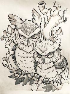 Owl Tattoo Designs and Ideas