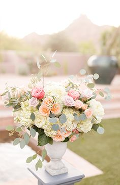 Pastel Pink and Blue Wedding in Scottsdale - Inspired By This