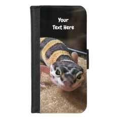 Personalize Leopard Gecko iPhone Wallet Case  $27.85  by MishMoshPets  - cyo customize personalize unique diy idea