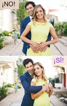 8 Posiciones correctas para tomarse fotos en pareja