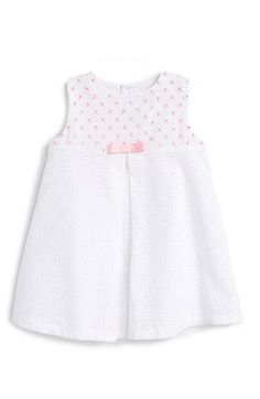 Luli & Me Sleeveless Eyelet Dress (Baby Girls) available at #Nordstrom
