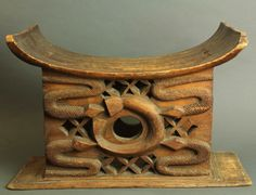 Africa | Chief's stool from the Asante people of Ghana | Wood | Pre 1940s.