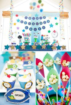 Stellar Space Themed Birthday Party // Hostess with the Mostess® Baby First Birthday, 4th Birthday Parties, 7th Birthday, Birthday Ideas, Space Baby Shower, Space Party, Space Theme, Astronaut Party, Happy B Day