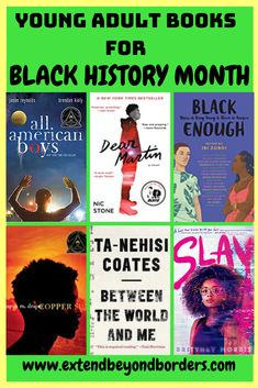 These are great books for Black History Month. Includes young adult novels and nonfiction books by black authors. A great Black history book list! Book Club Books, Book Lists, Good Books, Ya Books, Books By Black Authors, Black Books, Black History Books, Black History Month, African American Literature
