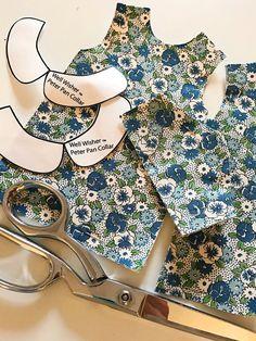 Doll Dress Patterns, Dress Making Patterns, Doll Sewing Patterns, Clothing Patterns, Shirt Patterns, Pattern Sewing, Wellie Wishers, Waldorf Dolls, Little Girl Dresses