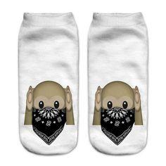 Emoji Unicorn Funny Low Cut Ankle Short Socks