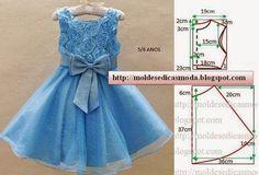 ARTESANATO COM QUIANE - Paps,Moldes,E.V.A,Feltro,Costuras,Fofuchas 3D: molde vestido tamanho 6/7 anos
