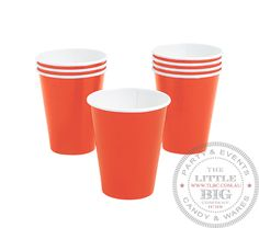 Orange Paper Cups | Paper Cups | Party Collection | The Little Big Company Pty Ltdparty, glass bottles, swizzle sticks, beverage dispenser, birthday, gift, rock candy