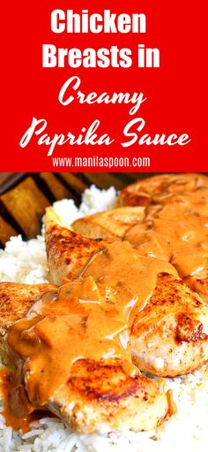 Wow your guests by making this delicious and easy dish - Chicken Breasts in Paprika Sauce. Perfect for weeknight dinner and elegant enough for a special dinner! The chicken comes out so moist and the yummy sauce adds so much flavor! Ground Chicken Recipes, Best Chicken Recipes, New Recipes, Favorite Recipes, Chicken Meals, Family Recipes, Sauce Recipes, Yummy Recipes, Recipies