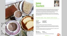 The Importance of Breakfast, Free Recipe eBook from Send A Cow: Pound Cake, Tea, Toast and Cocoa, Jane Austen - The Blog of one Balgarka.co....