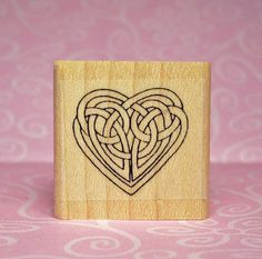Small Celtic Knotwork Heart Rubber Stamp