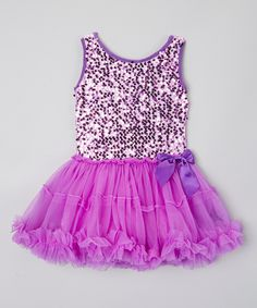 Love this Inspiration Group Purple Sparkle Tutu Dress - Infant, Toddler & Girls by Inspiration Group on #zulily! #zulilyfinds