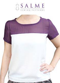 PDF Sewing pattern  Color block tshirt by Salmepatterns on Etsy, $6.00