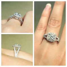 A stunning Verragio Engagement Ring with beautiful detail. Style# INS-7046  **Available at South Coast Jeweler**