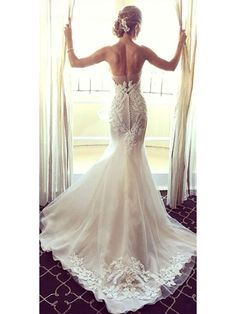 Mermaid Lace Appliques Wedding Dresses Bridal Gowns 99603015