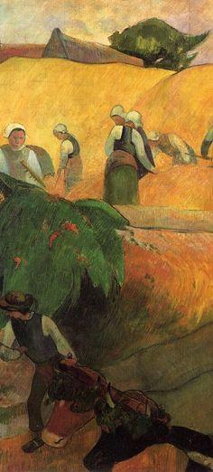 "Paul Gauguin (1848-1903) ~ ""Fenaison"" (Haymaking) - 1889"