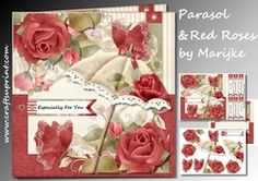 Parasol & Red Roses Mini Kit