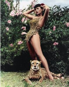 Bettie Page - by Bunny Yeager....fun fact: Bettie's house was broken into the night before and she actually didnt like these much, she said she thinks she looks tired!