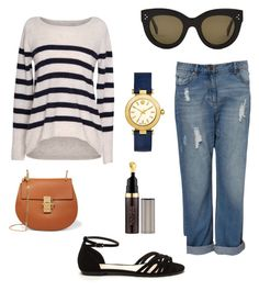 """""""weekend casual"""" by michellemcnultyhoward on Polyvore featuring Velvet by Graham & Spencer, CÉLINE, Chloé, Tory Burch and Hourglass Cosmetics"""