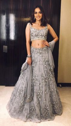 Excited to share this item from my shop: VeroniQ Trends-Bollywood Manushi Miss India inspired Heavy Lehenga Blouse in Grey Net With Embroidery,Pearl Work,Silver piping lace-VQ Indian Party Wear, Indian Wedding Outfits, Bridal Outfits, Indian Outfits, Indian Reception Outfit, Designer Bridal Lehenga, Bridal Lehenga Choli, Net Lehenga, Lengha Choli Designer