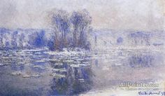 Claude Monet Floes At Bennecourt oil painting reproductions for sale