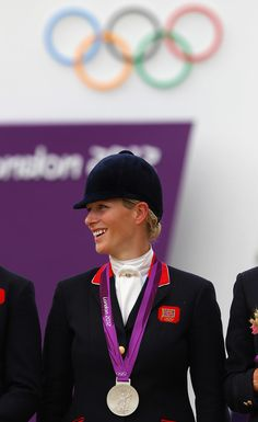 Zara posed with her silver medal at the London Olympics.   Why Zara Phillips Might Be the Coolest Royal of them All   POPSUGAR Celebrity