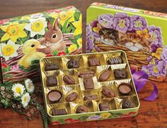 Animal Babies Assorted Chocolates | Embossed #Easter Tins - Pittman & Davis #EasterGifts #PittmanDavis
