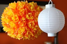 For the Sun Porch lanterns.DIY Paper Lantern by notmartha Diy Projects To Try, Crafts To Make, Fun Crafts, Craft Projects, Paper Crafts, Project Ideas, Paper Art, Tissue Paper Lanterns, Paper Lamps
