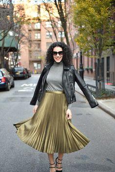 Shine in metallic skirts