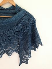 Ravelry: Diamonds for Lisa pattern by Little Church Knits 1/2 moon shape