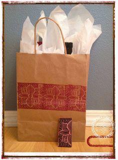 Made by Nicole: Mirrored Tile Stamp Christmas Gift Bag
