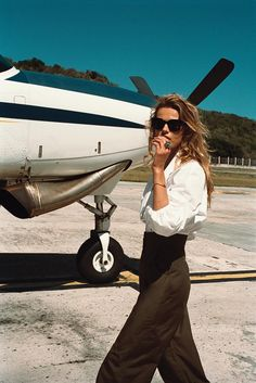 "<br>  Fendi blouse, <em>$1,600</em>, and pants, <em>$990, <a href=""http://www.fendi.com/us/"" target=""_blank"" class=""icon none"" >fendi.com</a>;</em> Céline sunglasses, <em>$375, Céline Madison Avenue, New York</em>; Finn bangle, <em>$3,800, <a href=""http://www.ylang23.com/"" target=""_blank"" class=""icon none"" >ylang23.com</a>;</em> Solange Azagury-Partridge ring, <em>$26,000, Solange Azagury-Partridge Madison Avenue, New York</em>"